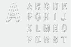 Utopia Utopie Typeface by RM , via Behance