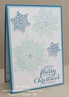 Stampin' Up! - Flurry Of Wishes - Autumn / Winter Catalogue Launch - Project 3…