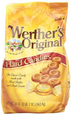 Werther's Original Caramel Hard Candy, Bags (Pack of Wine Recipes, Gourmet Recipes, Snack Recipes, Snacks, Bulk Candy, Hard Candy, Individually Wrapped Candy, Fresh Cream, Cream White
