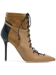 Nude suede Montana boots from Malone Souliers.