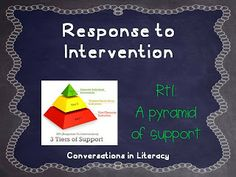 Response to Intervention (literacy)- What is RtI?- an overview of what RtI is & resources to help schools learn about the process