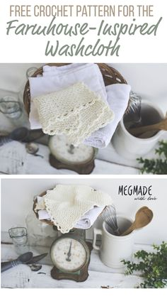 Farmhouse-Inspired Washcloth-- First of the Farmhouse Series — Megmade with Love