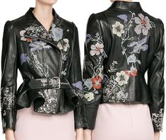 Lacy — The Alexander McQueen Embroidered Leather Jacket