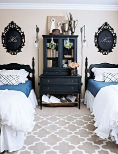 a craigslist furniture bedroom makeover, bedroom ideas, home decor, painted furniture, wall decor