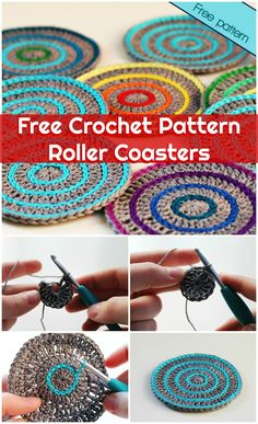 Free Crochet Pattern Roller Coasters - 70 Easy Free Crochet Coaster Patterns for Beginners - Page 3 of 14 - DIY & Crafts