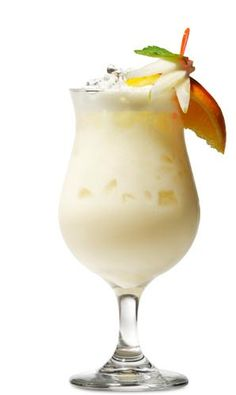 Pina Colada:  3 parts fresh pineapple juice; 1 part cream of coconut; 2.5 oz. Rom del Barrilito rum.  Blend together and garnish with a slice of pineapple. Salud!