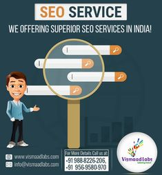As a leading SEO company in India, Vismaad labs offer SEO services to get your top rankings on all search engines. All our SEO packages have been keeping different search engine optimization in mind. All Search Engines, Professional Seo Services, Web Seo, Seo Packages, Seo Company, What You Can Do, Search Engine Optimization, Labs, Labrador