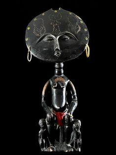 Africa | Doll ~  Akua Mma or Akwaba ~ from the Ashanti people of Ghana | ca. 1970
