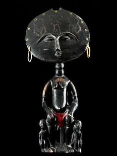 Africa | Doll ~  Akua Mma or Akwaba ~ from the Ashanti people of Ghana | ca. 1970
