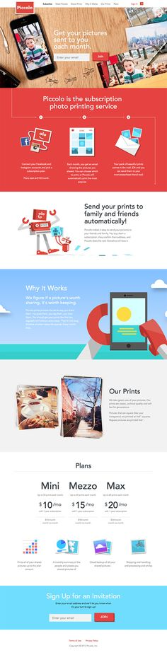 Piccolo Landing Page #landing #website #web #marketing