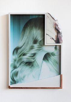 Untitled / Found poster, marble, shattered glass, copper, frame / 2013 Modern Art, Contemporary Art, Modern Design, Scrap, Shattered Glass, Broken Glass, Online Gallery, Creative Studio, Photo Illustration