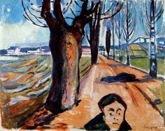 Edvard Munch - Murderer at the Alameda, 1919.  (Munch Museum, Oslo, Norway)