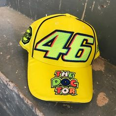 a2cb78c6608 Valentino Rossi Moto GP 46 The Doctor Yellow Cap Official 2017
