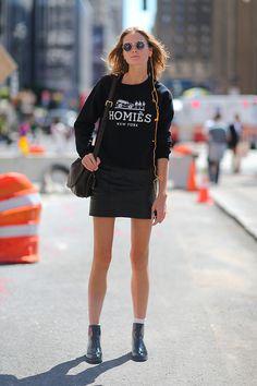 NYFW 2014 nyfw Irina Kulikova Model off duty street style