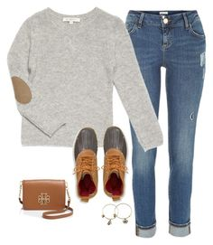 """sassy in fall"" by lizzielane33 ❤ liked on Polyvore featuring River Island, L.L.Bean, Alex and Ani and Tory Burch"
