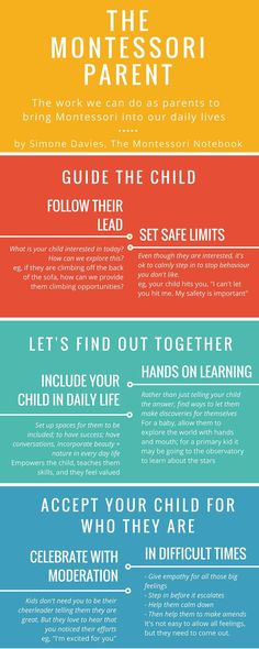 The 3 pillars to being a Montessori parent – an infographic