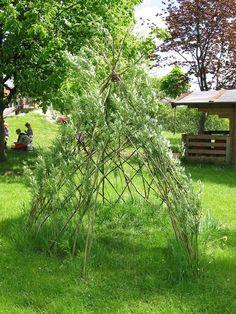 Bau eines Weiden-Tipi 8