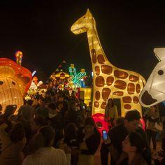 Una de las piezas del show  Luminasia, un espectáculo de luces, en Nuevo León, México.