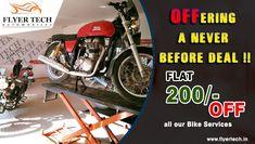 Take advantage of our offer now!!! Book our service today: https://goo.gl/BqMYBs #Bikeservice #FlyerTech #Marathahalli