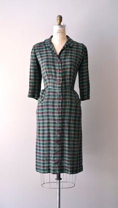 plaid 50s day dress via Etsy.
