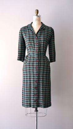 plaid 50s day dress via Etsy.