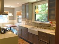 Upper cabinets Galley Kitchen Design, Small Galley Kitchens, Kitchen Lighting Design, Eat In Kitchen, Home Kitchens, Kitchen Dining, Kitchen Designs, Kitchen Seating, Dining Room