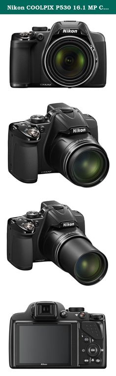 Nikon COOLPIX P530 16.1 MP CMOS Digital Camera with 42x Zoom NIKKOR Lens and Full HD 1080p Video (Black). The Nikon COOLPIX P530 Digital Camera is designed around a genuine NIKKOR glass lens, the legendary optics that have helped make Nikon famous. The COOLPIX P530s 42x optical zoom lens goes from wide-angle-great for portraits and landscapes-all the way up to telephoto-great for closeups of sports, concerts, nature and more. When you need even more reach, zoom up to 42x with optical zoom...
