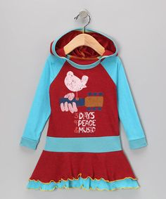 Take a look at this Red & Blue Woodstock Ruffle Dress - Toddler & Girls by Rowdy Sprout on #zulily today!
