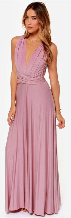 a42a3ce05b Mauve Infinity Maxi Convertible Dress