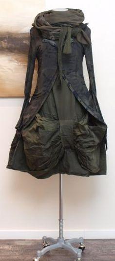Lagenlook. stilecht - mode für frauen mit format... - rundholz dip - Kleid Ribbon frog - Winter 2014