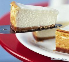 Make a classic New York cheesecake with this easy recipe, perfect for everyday baking and occasions. Find more cake recipes at BBC Good Food. Sugar Free Desserts, Sugar Free Recipes, Gluten Free Desserts, Just Desserts, Sweet Recipes, Delicious Desserts, Easy Recipes, Cheesecake Thermomix, Cheesecake Recipes