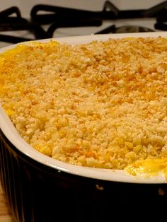 baked macaroni and cheese because seriously who doesn't love macaroni and cheese?