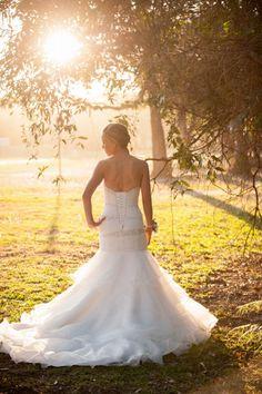mermaid strapless sweetheart vintage beaded organza fall wedding dress