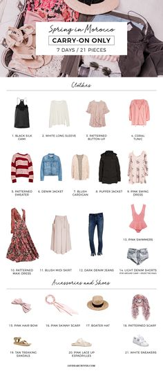 Travel Capsule Wardrobe for Morocco - Best Travel İdeas Capsule Outfits, Capsule Wardrobe, Fall Wardrobe, Travel Outfit Summer, Summer Outfits, Travel Outfits, Henna Designs, Camping Outfits For Women, Travel Capsule