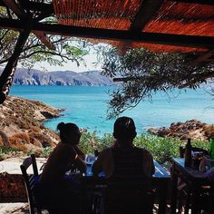 Late lunch and relaxing in between yoga classes in Greece. #greece #yoga www.yoga-escapes.com