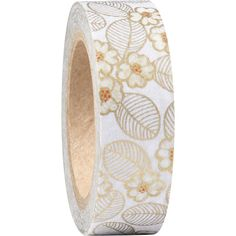 Gold floral washi tape from Paper Source