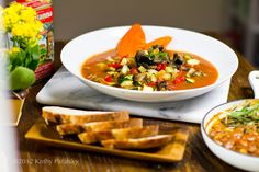Roasted Vegetable Soup. BBQ Beans. Cozy Fall Meal.