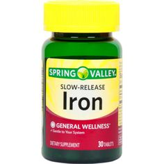 Spring Valley Slow-release Iron Dietary Supplement Tablets 30 Count for sale online Spring Valley Supplements, Diet Pills That Work, Pre Workout Supplement, Nutritional Supplements, Body Care, Health Tips, Herbalism, Vitamins, Count