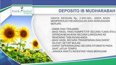 Deposito ib Mudharabah Bank Kalsel Syariah
