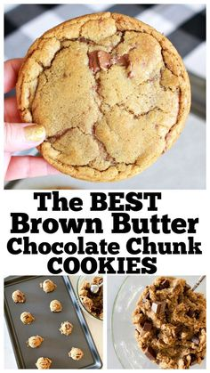 The BEST Brown Butter Cookies! The BEST Brown Butter Chocolate Chip Cookies you'll ever need! Simple to make and perfectly buttery crisp and chewy! Brown Butter Cookies, Butter Chocolate Chip Cookies, Butter Cookies Recipe, Yummy Cookies, Ultimate Chocolate Chip Cookies Recipe, Cookie Butter, Cheese Cookies, Butter Pie, Chocolate Ganache