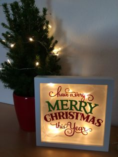 RIBBA illuminated as a Christmas decoration Christmas Shadow Boxes, Christmas Frames, Christmas Tree Toppers, Diy Christmas Gifts For Dad, All Things Christmas, Decorating With Christmas Lights, Christmas Decorations, Xmas Crafts, Diy And Crafts