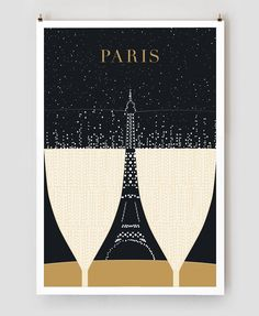 "SALE - Illustration, Paris Print, ""Eiffel Tower"" Drawing Art Deco Poster, Black and Gold Wall Art, College Student Gift for Her Illustration Parisienne, Illustration Art, Eiffel Tower Drawing, Paris 3, Retro Poster, Kunst Poster, Poster Prints, Art Prints, Vintage Travel Posters"