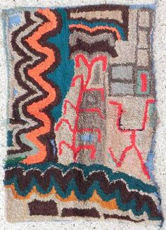 oh the shapes the shapes.  a berber rug from boucherouite.... sold