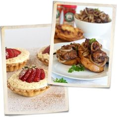 Evelyn Thomas serves up chicken liver crostini and white chocolate mousse tartlets in this week's challenge! White Chocolate Mousse, Chicken Livers, Fabulous Foods, Nom Nom, Waffles, Challenge, Yummy Food, Breakfast, Desserts