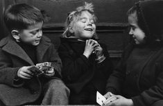 "Ruth Orkin (1921-1985),  ""The Cardplayers"" New York, circa 1940s"