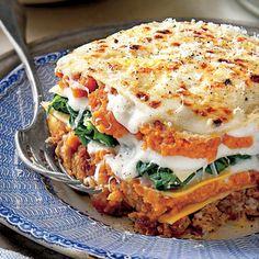 Pumpkin-and-Turnip Green Lasagna | MyRecipes.com