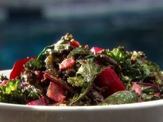 Kale with Roasted Beets and Bacon | toss w/ quinoa pasta, parm & a touch of garlic & you're set