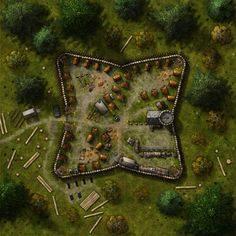 Graveth's Fort Battle Map from Cartographers' Guild