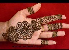 Latest Arabic Henna Designs For Hands *Simple Arabic Henna Mehndi Designs*Matroj. - Community Board of Boards - Hand Henna Designs Palm Henna Designs, Henna Designs For Kids, Very Simple Mehndi Designs, Palm Mehndi Design, Indian Mehndi Designs, Arabic Henna Designs, Mehndi Designs Book, Mehndi Designs For Beginners, Mehndi Simple