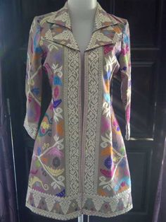 Dress Songket - indonesia Batik Fashion, Ethnic Fashion, African Fashion, Batik Blazer, Blouse Batik, Model Dress Batik, Batik Dress, White Shirts Women, Blouses For Women
